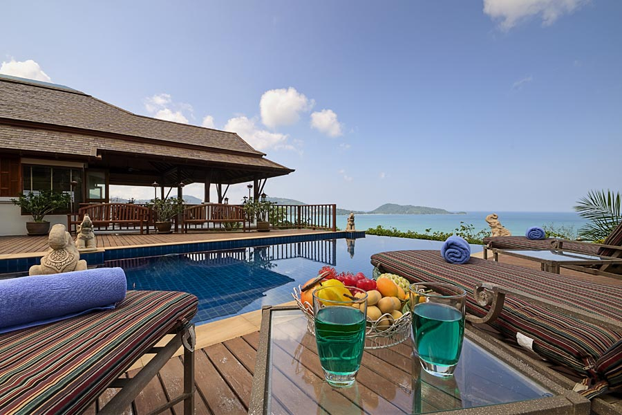 3 bedroom sea view luxury holiday rental patong phuket for Luxury holiday rentals uk